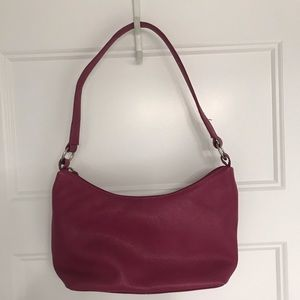 Hot Pink Leather Purse